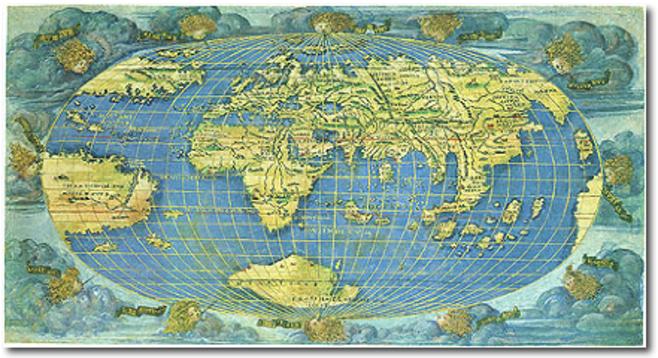 315 francesco roselli oval world map cartographic images 315 francesco roselli oval world map cartographic images gumiabroncs Image collections